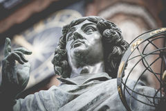 Monument of great astronomer Nicolaus Copernicus, Torun, Poland Royalty Free Stock Photo