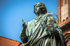 Monument of great astronomer Nicolaus Copernicus, Torun, Poland.  Stock Photography