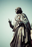 Monument of great astronomer Nicolaus Copernicus, Torun, Poland.  Royalty Free Stock Image