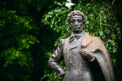Monument great poet Alexander Pushkin in Moscow Stock Photos