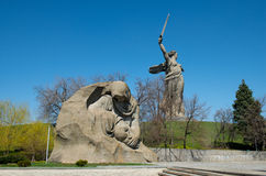 Monument of Grieving Mother in Mamayev Kurgan Stock Photo