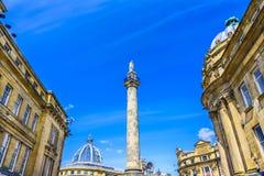 Monument gris du ` s, Newcastle, R-U images stock