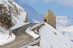Monument in the Grossglockner, Austria Stock Image