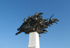 Monument on Gundogdu square at Izmir Stock Images