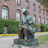 Monument Hans Christian Andersen in Kopenhagen Royalty-vrije Stock Foto
