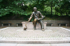 Monument. Hans Christian Andersen Statue in Central Park, New York Stock Photography
