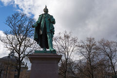 Monument of Henrik Wergeland. In the Eidsvolls plass Spikersuppa near the National Theater at Oslo, Norway royalty free stock image