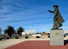 Monument Henry navigatören i Sagres, Algarve, Portugal Arkivfoton