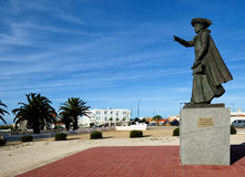 Monument  Henry the Navigator in  Sagres, Algarve, Portugal Stock Photos