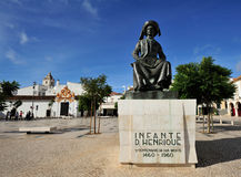Monument  Henry the Navigator at square in  Lagos, Algarve, Por Stock Photos