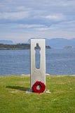 Monument in herinnering van de terroristische aanslag op 22 juni 2011 in Noorwegen Royalty-vrije Stock Foto's