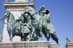 The monument in heroes square Royalty Free Stock Photography