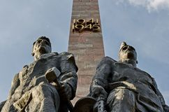 Monument `Heroic defenders of Leningrad` on Victory Square - a monument to the feat of citizens in the tragic days of the siege. Of 1941-1944 St. Petersburg royalty free stock image
