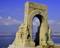 Monument of Heros. Monument of the Heros cityscape in France Royalty Free Stock Photography