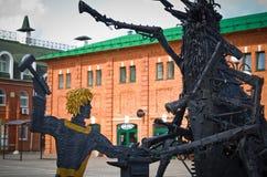 Monument - het Bedwingen van de vlo royalty-vrije stock afbeeldingen