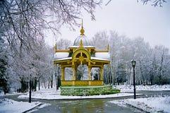 Monument historique du 19ème siècle d'architecture élégant et d'international Photographie stock