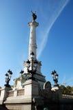 Monument hjälpGirondins, Bordeaux Royaltyfri Foto