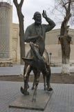 Monument Hodja Nasreddin i Bukhara, Uzbekistan Royaltyfri Fotografi