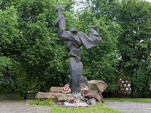 Monument of the Holocaust Victims in Lviv Stock Image