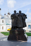 Monument holy pious Peter and Fevronia of Murom, Murom, Russia Royalty Free Stock Photo