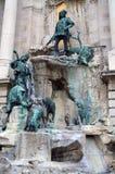 Monument in Hongaars hoofdboedapest stock afbeelding