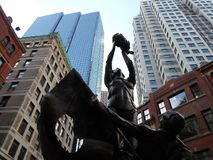 Monument hongrois, Liberty Square, Boston, le Massachusetts, Etats-Unis Photo stock