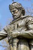 A monument in honor of the Bulgarian Medieval Tzar Samuil. In the very heart of Sofia - near Saint Sofia basilica Royalty Free Stock Photo