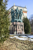 Monument in honor of the 50th anniversary of the student construction brigades. Stock Image