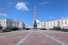 Monument in honor of the victory of the Soviet Army soldiers Royalty Free Stock Image