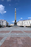 Monument in honor of the victory of the Soviet Army soldiers Stock Images