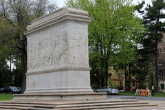 Monument that honors men of Albany, who sacrificed their lives, Albany,New York,2016. Gorgeous monument with detailed carvings honoring men of Albany,who royalty free stock photos