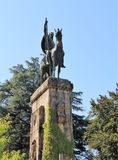 Monument horse rider. In luka italy,photo- august 2015 royalty free stock photo