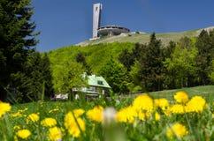 Monument i berg royaltyfri fotografi