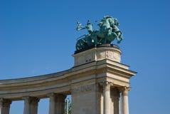 Monument i Budapest Arkivbild