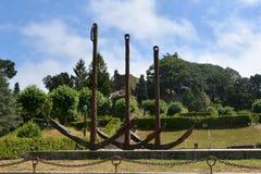 Monument i den härliga Vigo Castro Park, Spanien Royaltyfri Fotografi