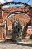 Monument i den Oreshek fästningen, Shlisselburg, Ryssland Arkivfoton