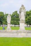 Monument i den Prato dellaen Valle i en mitt av Padova Arkivfoton