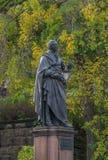 Monument i Dresden Carl Maria Friedrich Ernst von Weber en tysk kompositör, ledare Royaltyfri Bild