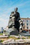 Monument i heder av de nationella poetAnd Writer Of Vitryssland Yakub kolasna i Minsk Royaltyfria Foton