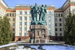 Monument i heder av den 50th årsdagen av studentkonstruktionsbrigaderna royaltyfri foto