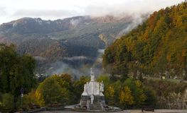 Monument i Jougne, östliga Frankrike arkivfoton