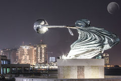 Monument i Katara, Doha Arkivfoto