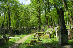 Monument i kyrkogården Royaltyfri Foto
