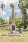 Monument i Middelburg som hedrar medborgare som är stupade i Anglo-Boer W Royaltyfria Foton