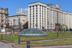 Monument i Moscow, Ryssland 库存照片