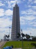 Monument i Plaza de Revolution Arkivbild
