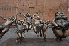 Monument i Siena arkivbild