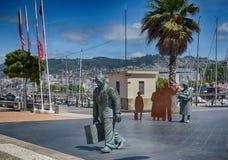 Monument i staden av Vigo, Spanien Arkivfoton