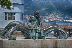 Monument i staden av Vigo, Spanien Arkivbilder
