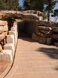 Monument i Yad Vashem Förintelseminnesmärke jerusalem Royaltyfria Bilder